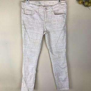 PILCRO AND THE LETTERPRESS white print jeans 28
